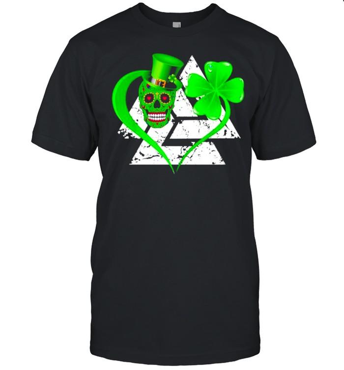 Skull Viking Valknut St Patricks Day Irish shirt