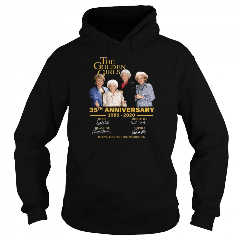 The Golden Girl Anniversary 1985-2020 shirt Unisex Hoodie