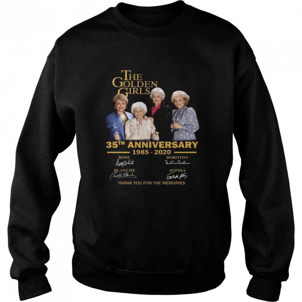 The Golden Girl Anniversary 1985-2020 shirt Unisex Sweatshirt
