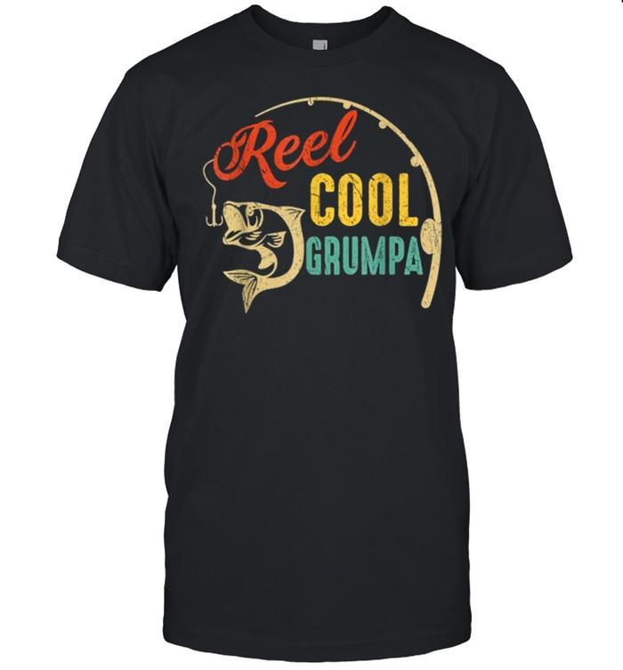 Vintage Fishing Reel Cool Grumpa shirt Classic Men's T-shirt