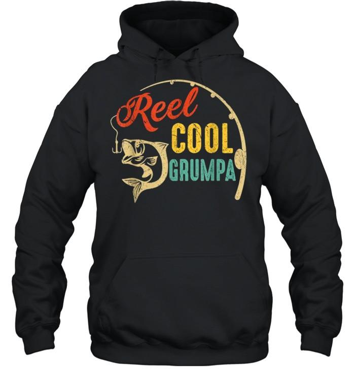 Vintage Fishing Reel Cool Grumpa shirt Unisex Hoodie