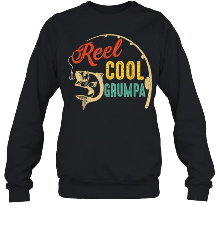 Vintage Fishing Reel Cool Grumpa shirt Unisex Sweatshirt