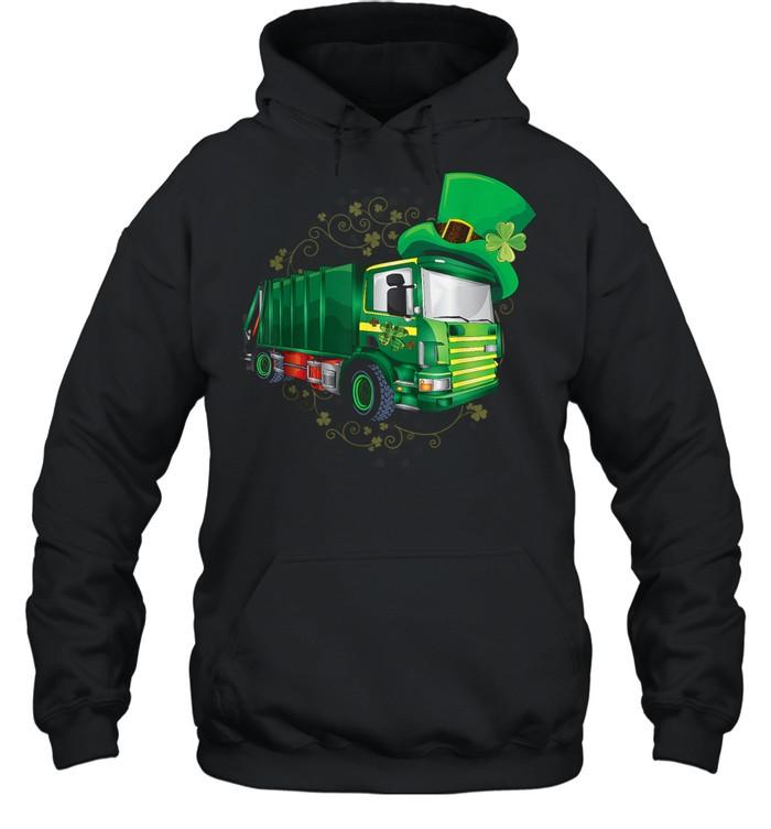 Garbage Truck Patricks Day shirt Unisex Hoodie