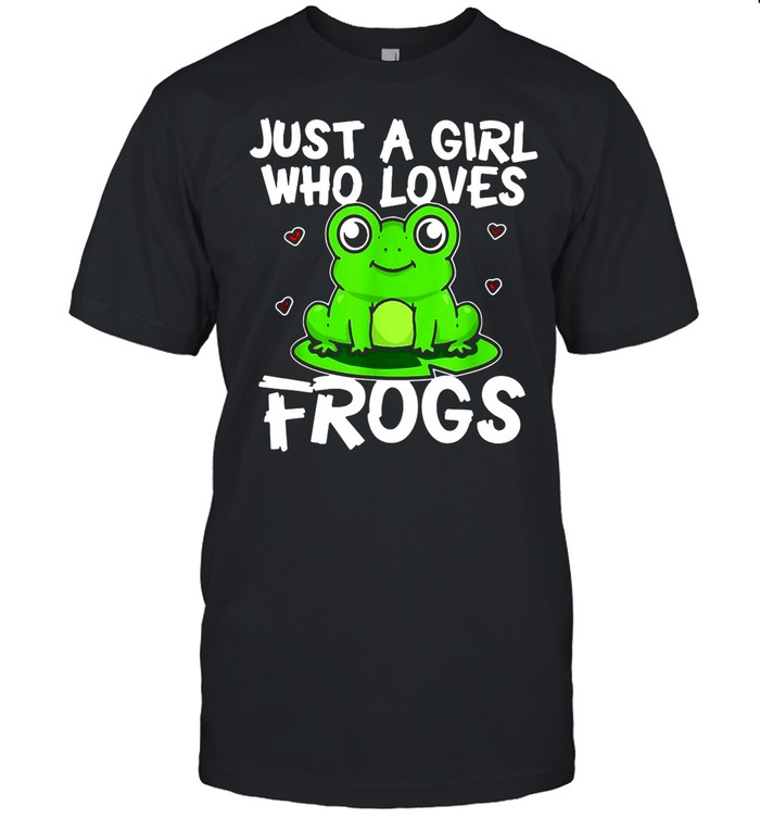 Just A Girl Who Loves Frogs Green Frog Costume shirt