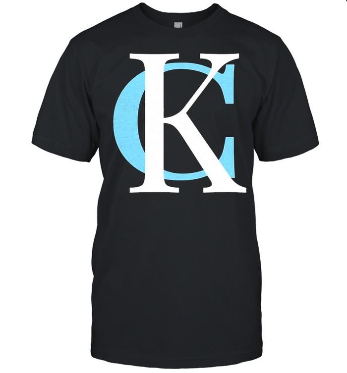 Kc Baby Blue & Royal Blue Kansas City Letters Kc Local shirt