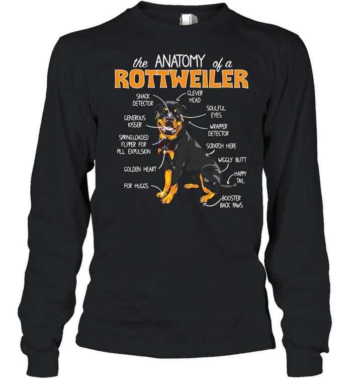 The Anatomy Of A Rottweiler shirt Long Sleeved T-shirt