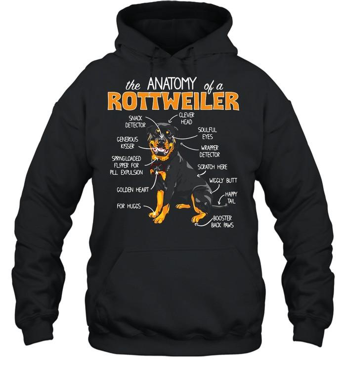 The Anatomy Of A Rottweiler shirt Unisex Hoodie