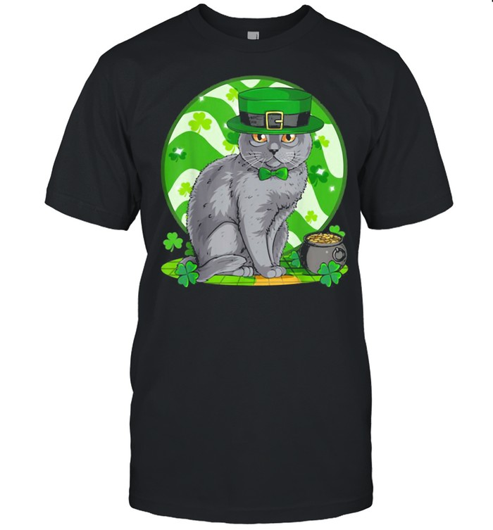 Awesome Chartreux Cat Leprechaun St. Patricks Day Shirt
