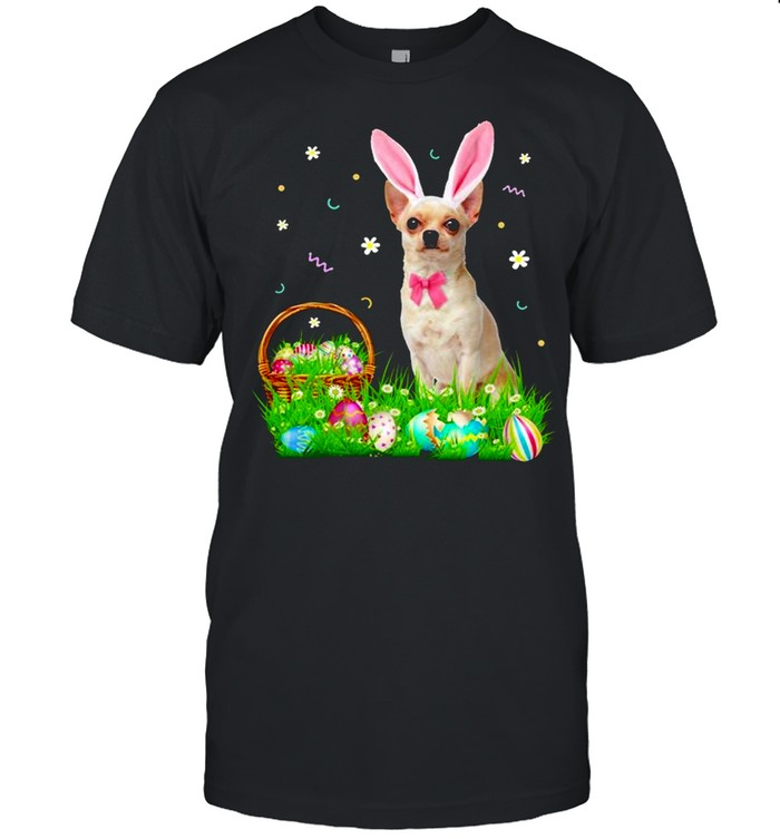 Chihuahua Easter Day Bunny Eggs Easter Costume shirt Classic Men's T-shirt