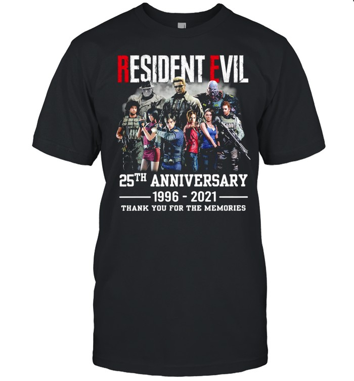 Resident Evil 25th anniversary thank you for the memories shirt