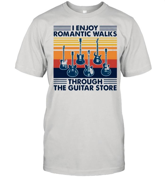 I Enjoy Romantic Walks Through The Guitar Store Vintage shirt