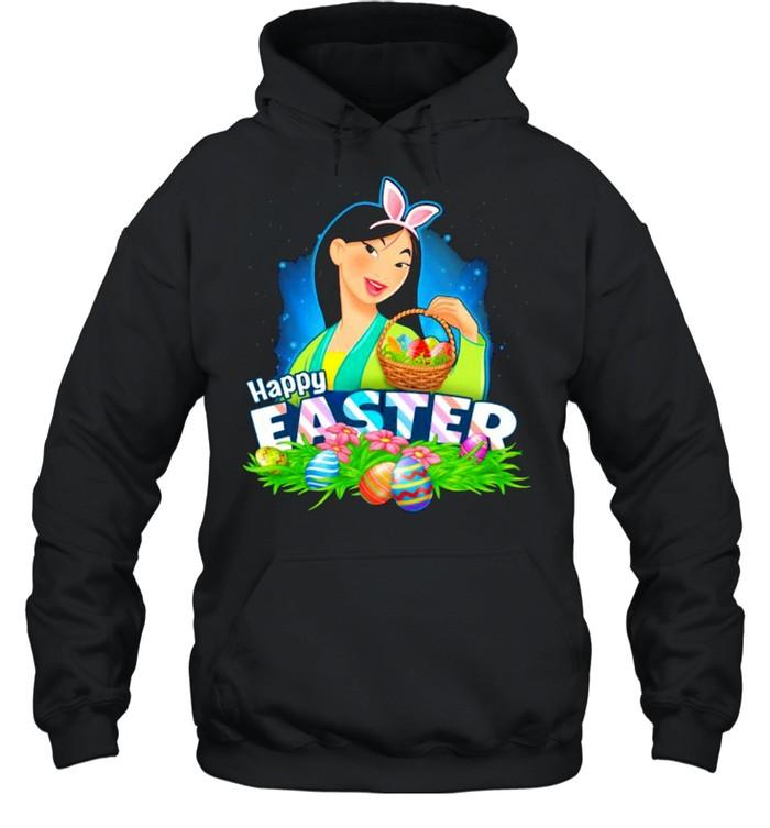 Happy Easter Day Egg Mulan Ladies Disney  Unisex Hoodie