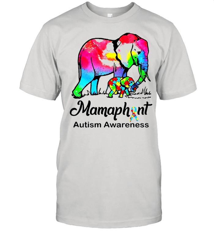 Mamaphent Autism Awareness Elephant LGBT  Classic Men's T-shirt
