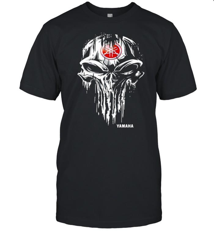 Punisher Skull With Logo Yamaha Shirt