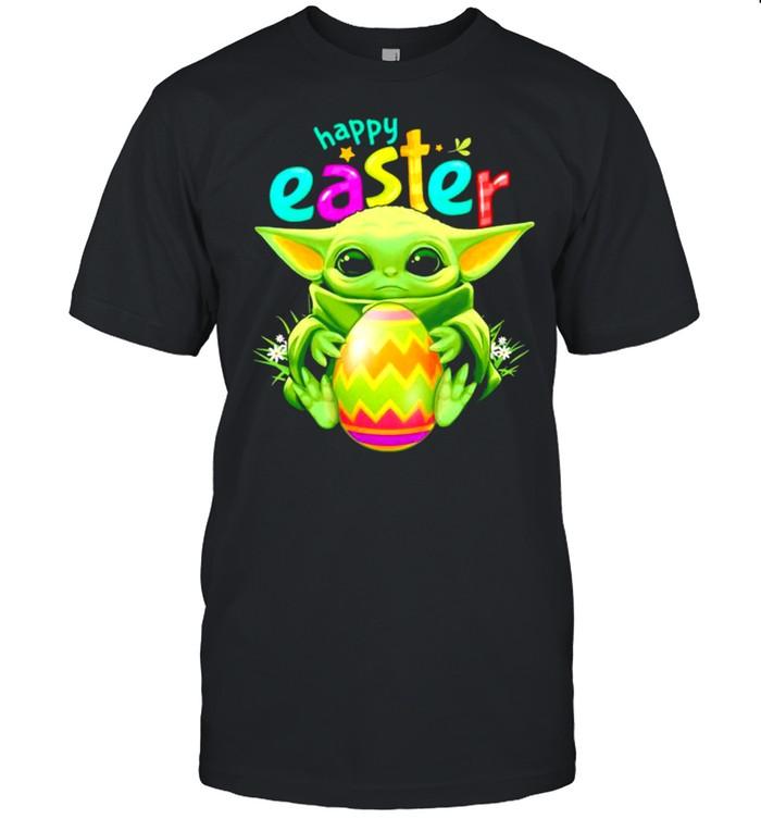 Baby Yoda Hug Egg Happy Easter Day Shirt