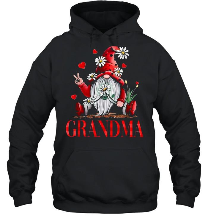 Heart Gnome Grandma 2021 shirt Unisex Hoodie