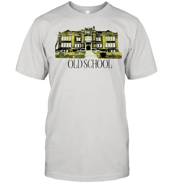 Kicking It Old School Literal yet ironic branded shirt