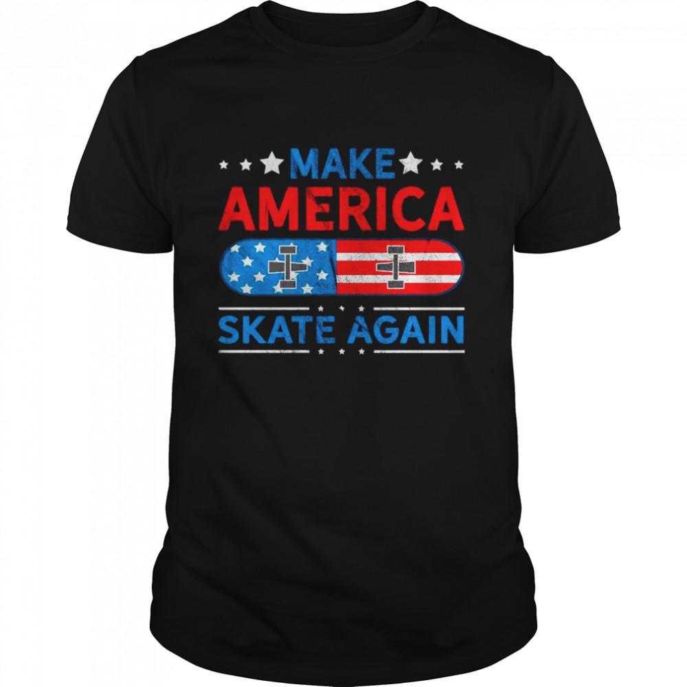 Make America Skate Again Flag shirt