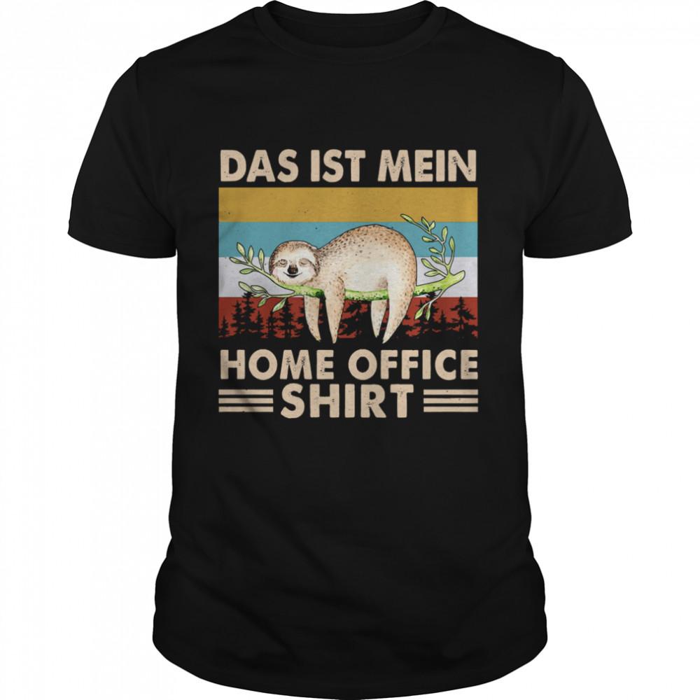 Vintage Sloth das ist mein home office shirt Classic Men's T-shirt