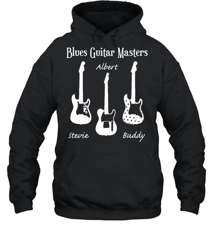 Blues Guitar Masters Stevie Albert Buddy T-shirt Unisex Hoodie
