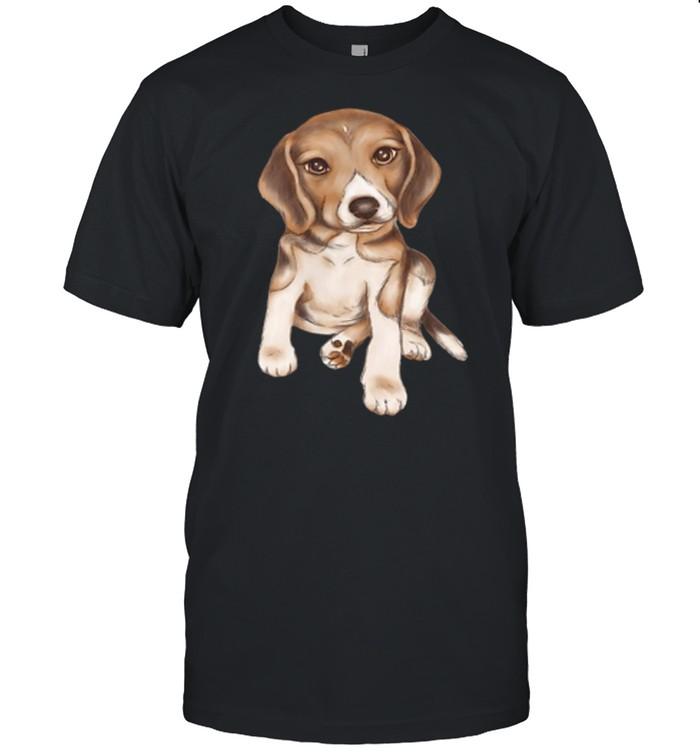 Beagle dog breed puppy art shirt