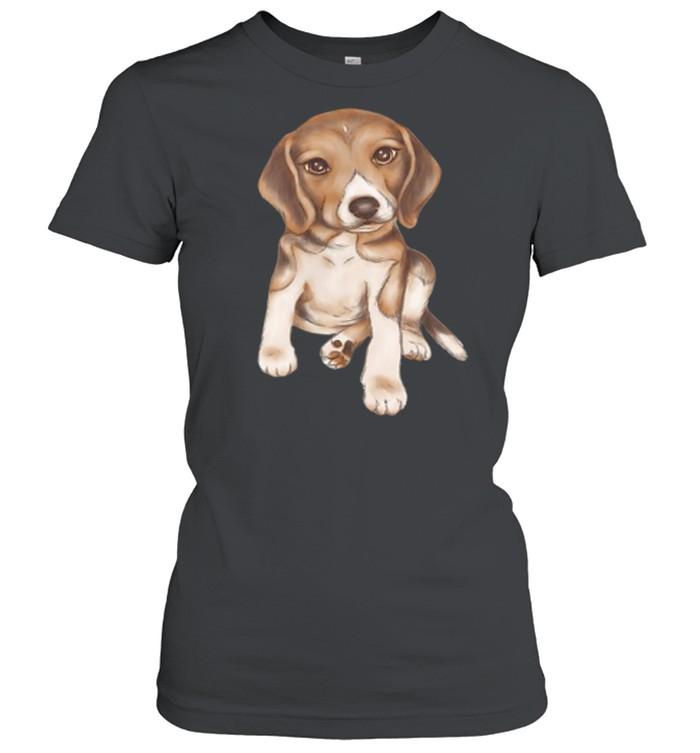 Beagle dog breed puppy art shirt Classic Women's T-shirt