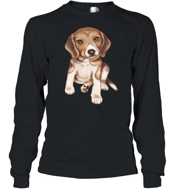 Beagle dog breed puppy art shirt Long Sleeved T-shirt