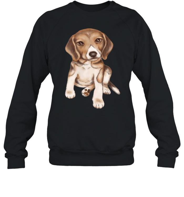 Beagle dog breed puppy art shirt Unisex Sweatshirt