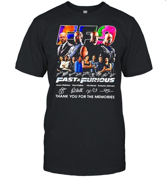 Fast And Furious Thank You For The Memories Signature Shirt
