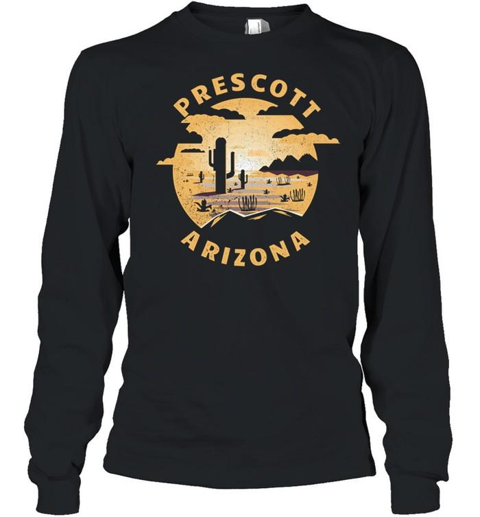 Prescott Arizona Desert Illustration Vintage Souvenir shirt Long Sleeved T-shirt