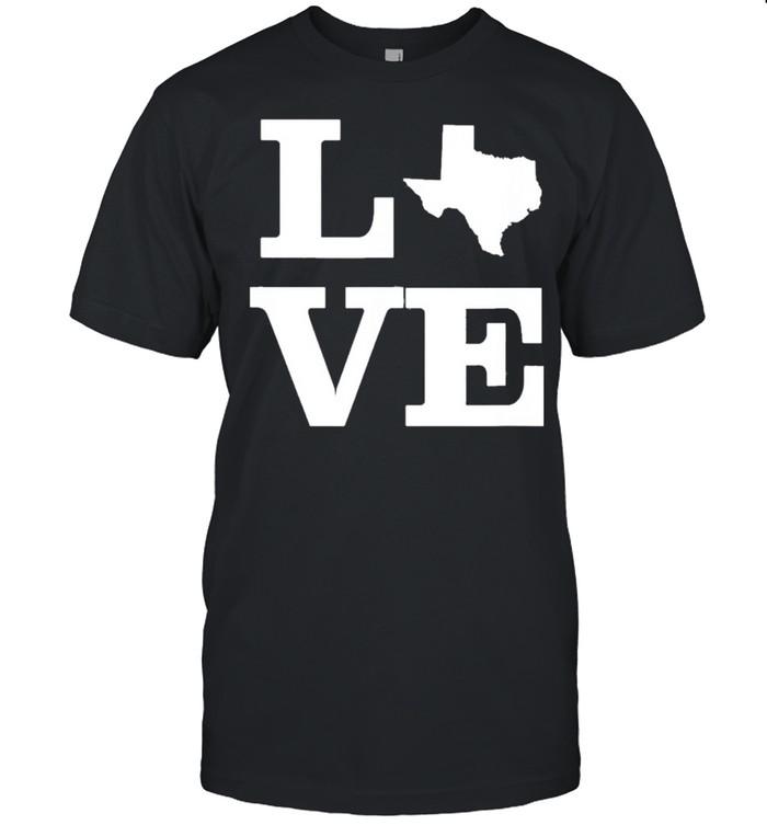 Texas Love Design State Outline Texas Home Classic shirt