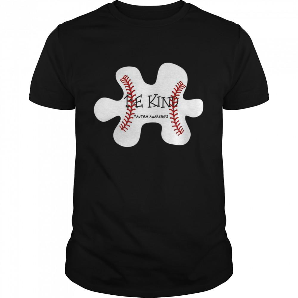 Autism Baseball Be Kind #autism Awareness shirt