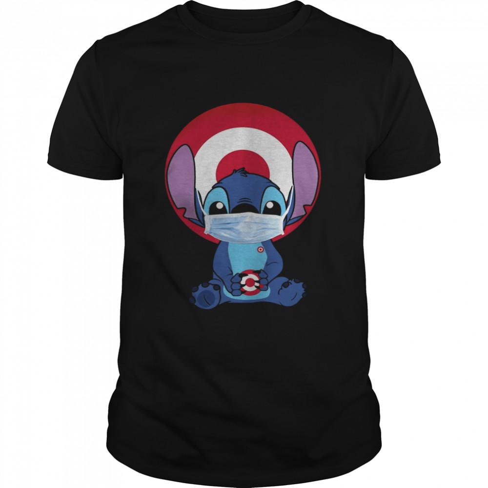 Baby Stitch Face Mask Hug Target Logo shirt