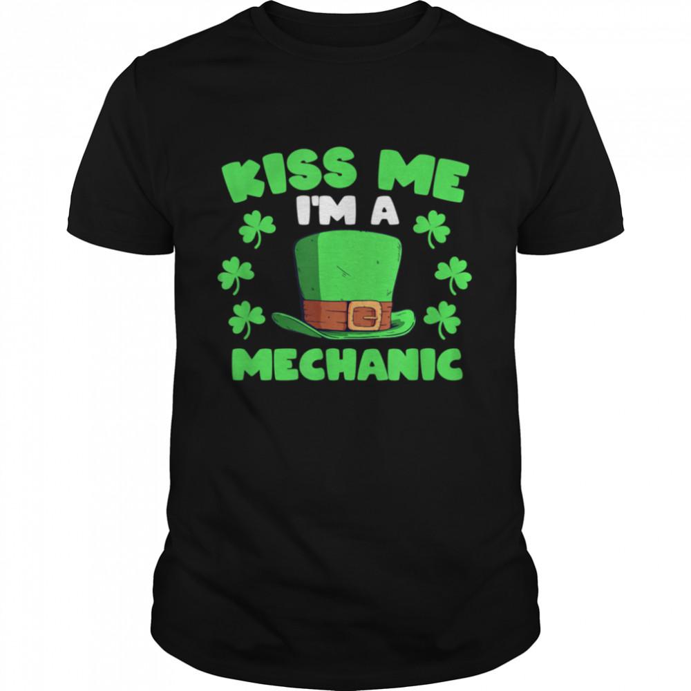 I'm A Mechanic Mechanic Elf Shamrock Elves shirt