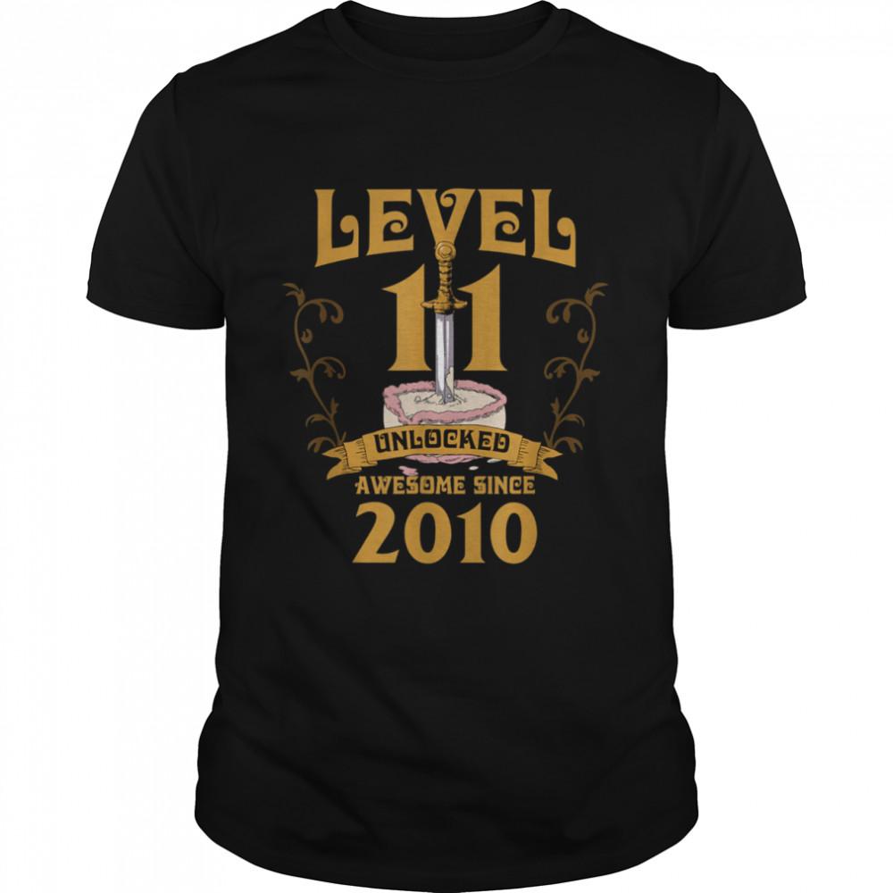 Level 11 Unlocked Gamer 11 Years Old 2010 Birthday 11th Bday shirt Classic Men's T-shirt