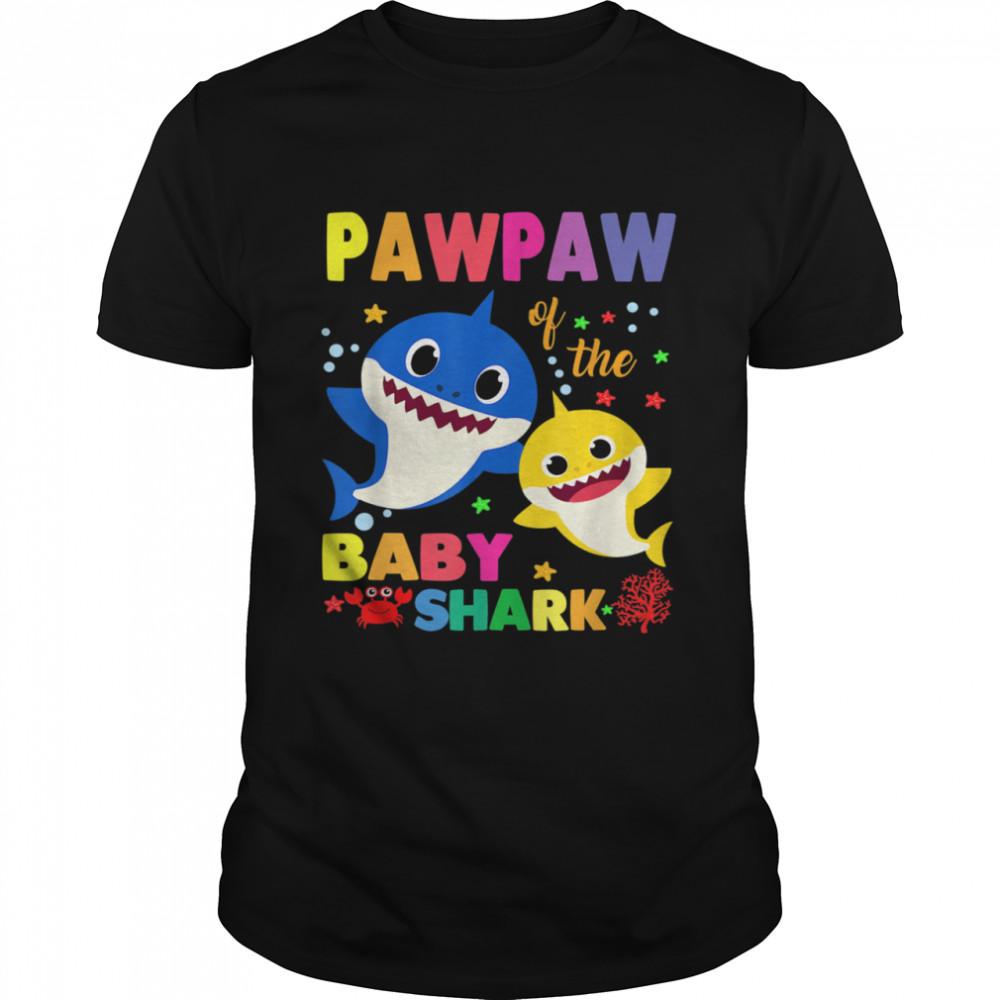 Pawpaw Of The Baby Shark Birthday Pawpaw Shark shirt Classic Men's T-shirt
