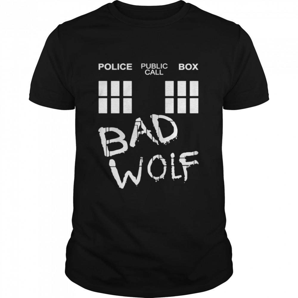 Police public call box bad wolf shirt Classic Men's T-shirt