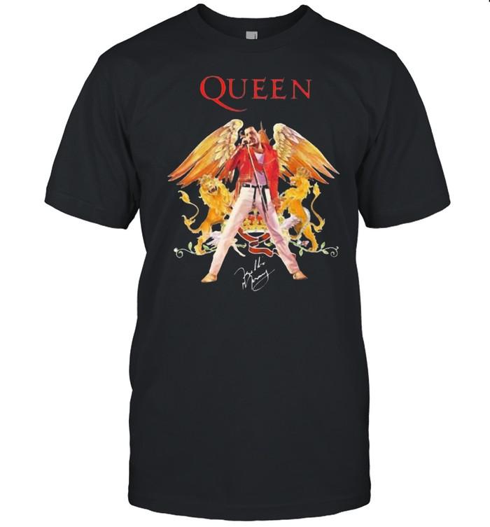 Queen Eagles Lion Signature Shirt