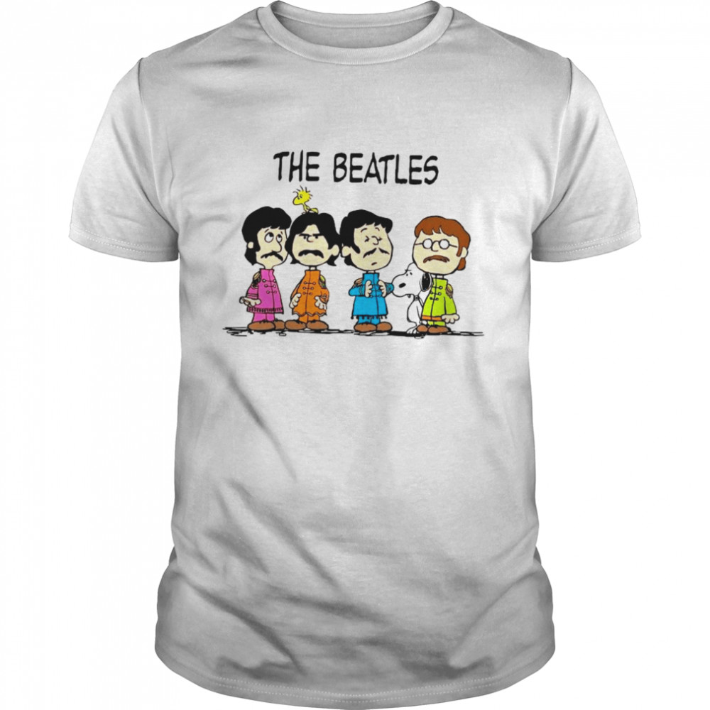 Snoopy Woodstock And The Beatles Chibi shirt