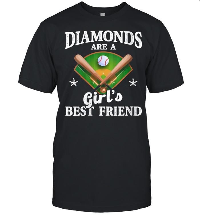 Diamonds Are Girl's Best Friend Baseball Softball shirt