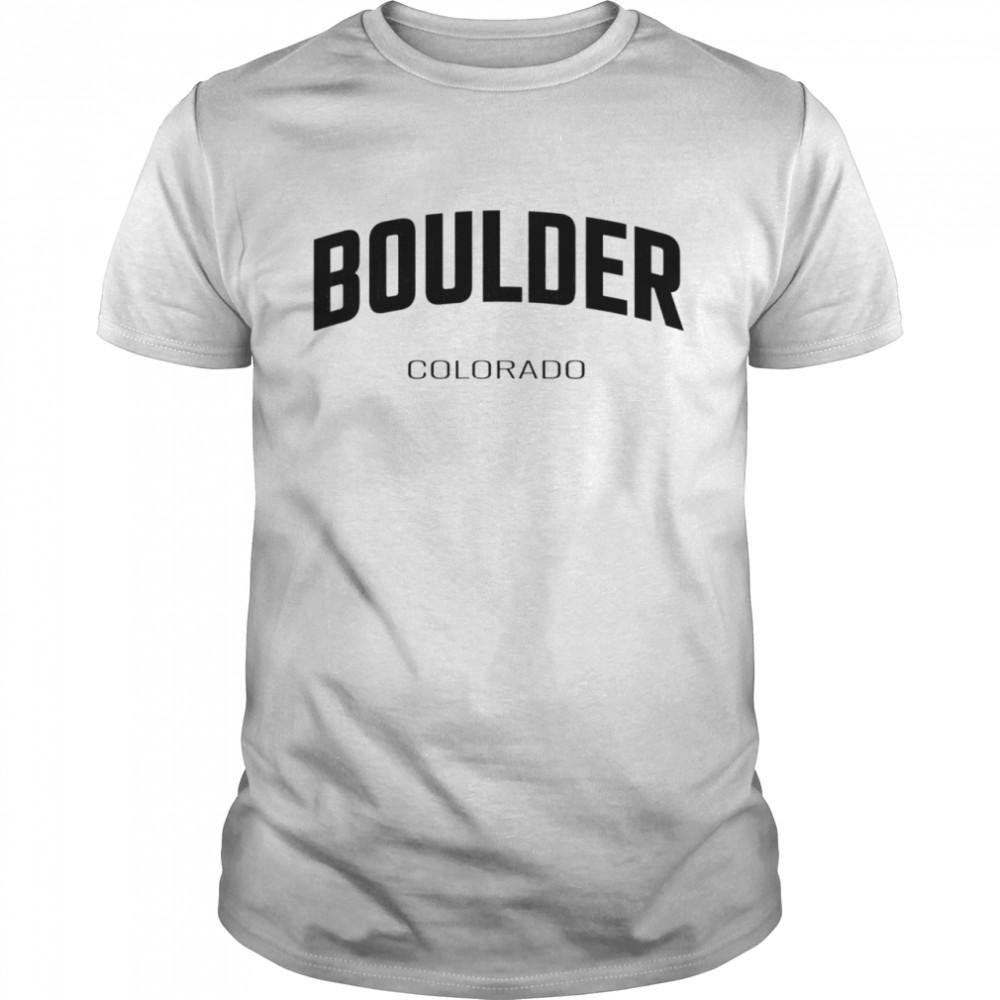 Boulder Colorado CO vintage state Athletic shirt