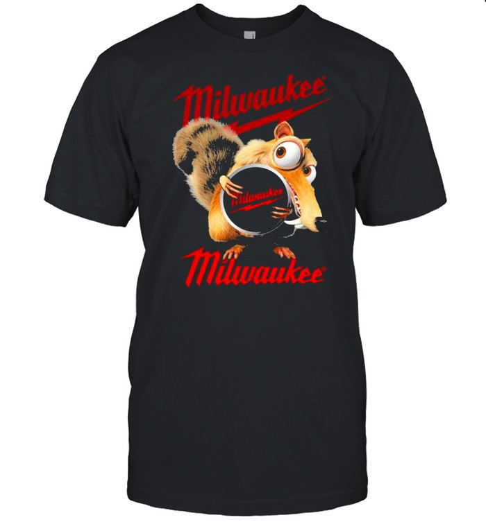 Squirrel W Nuts With Logo Milwaukee Shirt