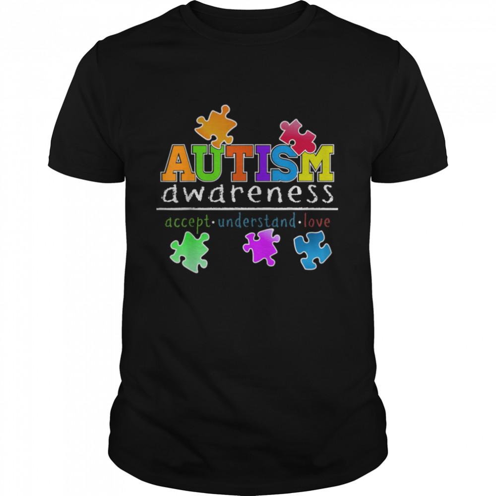 Accept Understand Love Hope Support Autism Awareness shirt