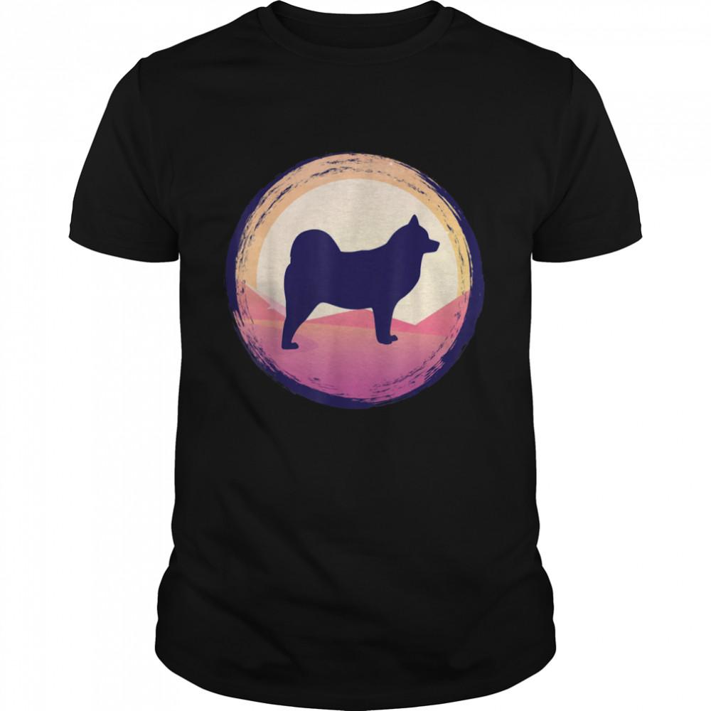 American Eskimo Dog Man Cloud Spitz shirt Classic Men's T-shirt
