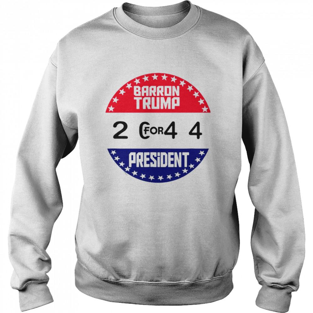 American Flag Barron Trump For 2044 President T-shirt Unisex Sweatshirt