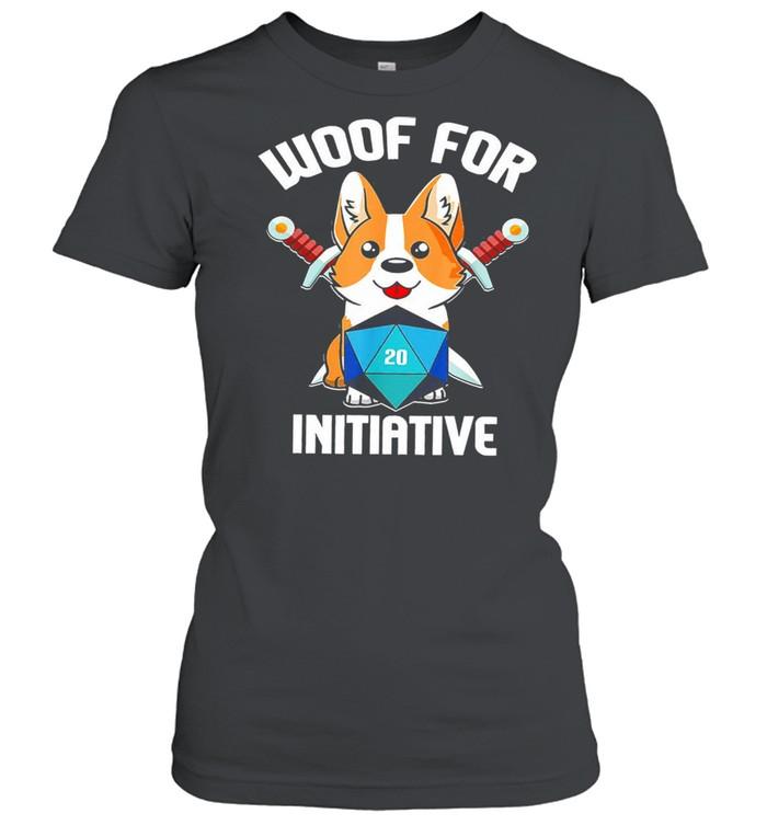 Baby corgi woof for initiative shirt Classic Women's T-shirt