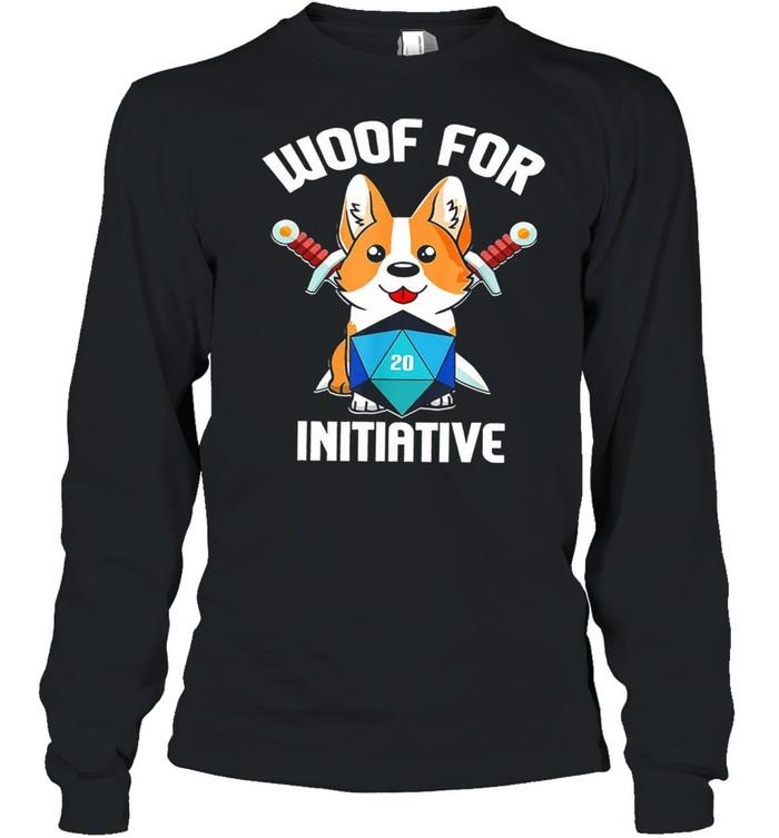 Baby corgi woof for initiative shirt Long Sleeved T-shirt