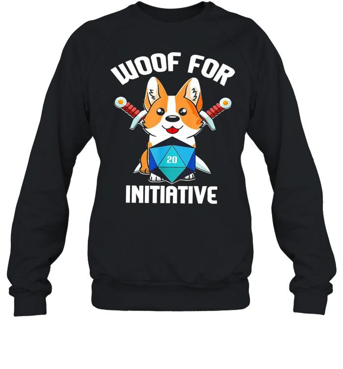 Baby corgi woof for initiative shirt Unisex Sweatshirt