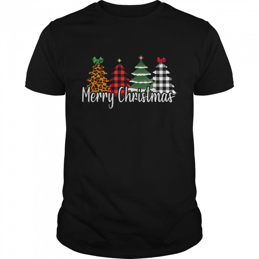 Buffalo Plaid Christmas Tree Mom Daughter Holiday shirt
