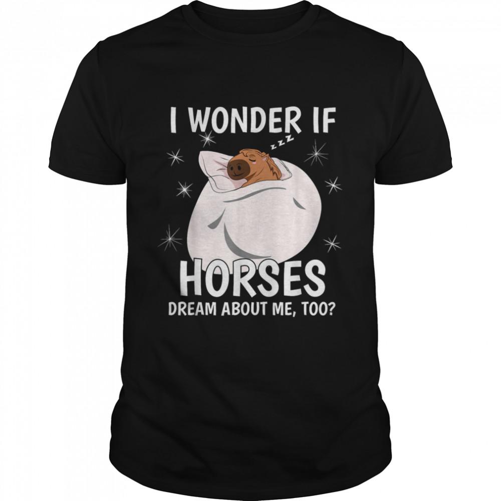 I Wonder If Dream Sleeping PJ Pajama Top Horse shirt
